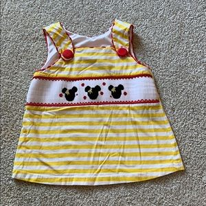 Smocked Mickey Mouse shirt
